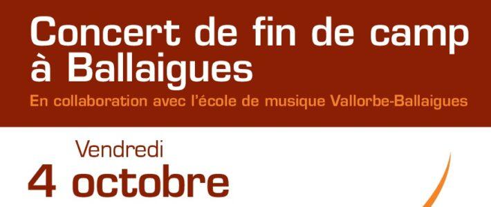 Begrüssungs- und Abschlusskonzert in Ballaigues
